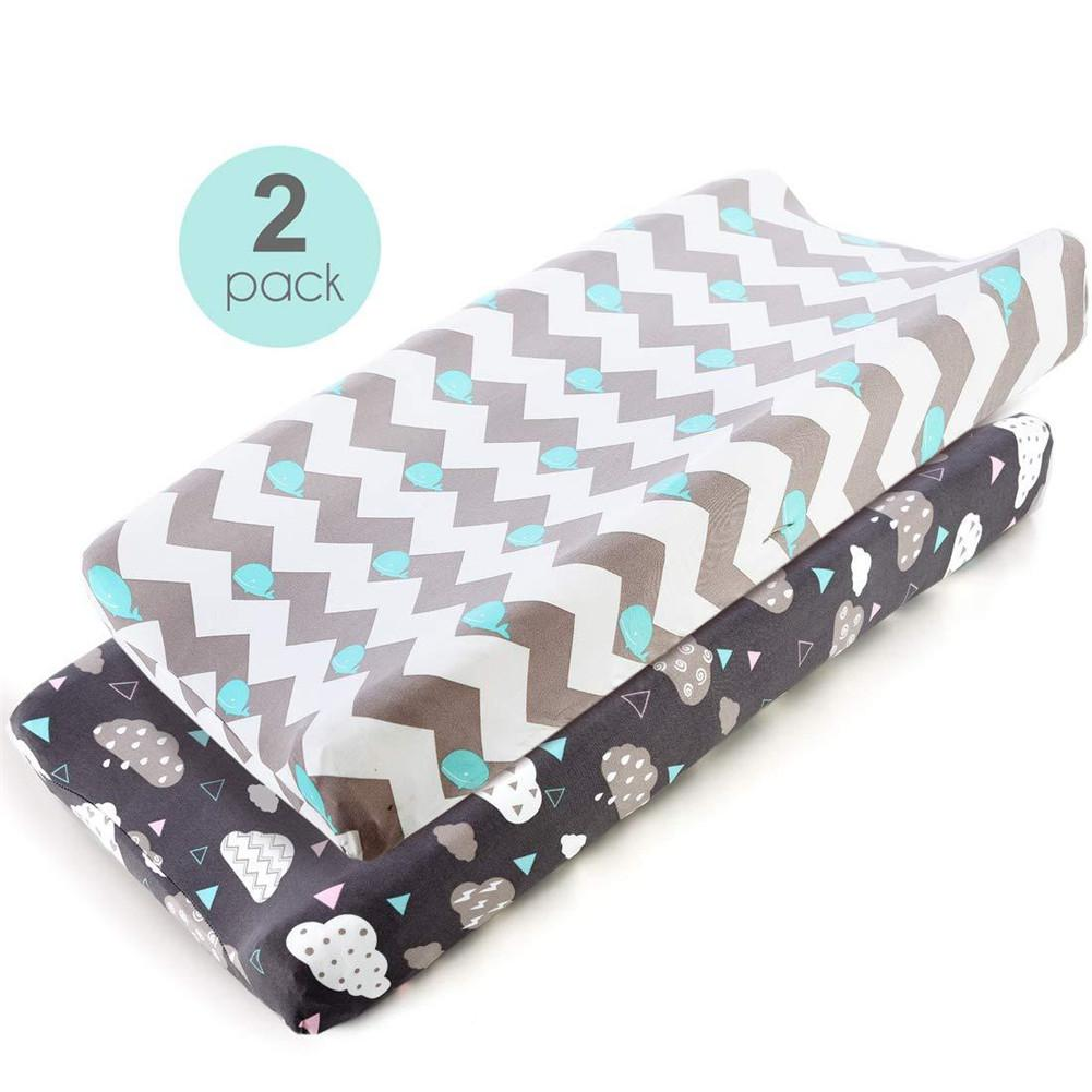 Kidlove 2Pcs/Set Removable Changing Pad Cover For Baby Infant Boys Girls Massage Table