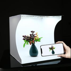 Image 3 - PULUZ 30*30cm Lightbox מיני מתקפל צילום סטודיו תיבת צילום LED 30cm Lightbox סטודיו ירי אוהל ערכת & 6 צבע תפאורות