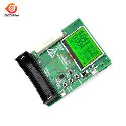 4-bit vermelho 0.56 led display display led 18650 bateria de lítio capacidade tester módulo 128x64 display lcd banco de potência capacidade teste 0 mah 9999mah