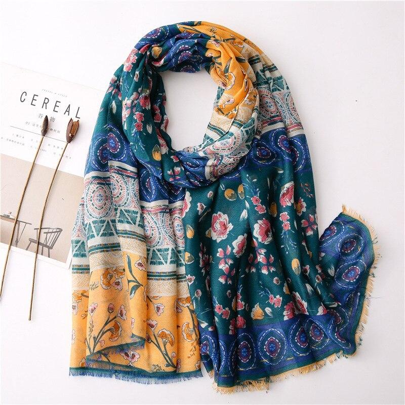 2020 New Brand Spring Women Cotton Scarf Fashion Long Scarves Winter Shawl Pashmina Bandana Foulard Hijabs Femme Cachecol