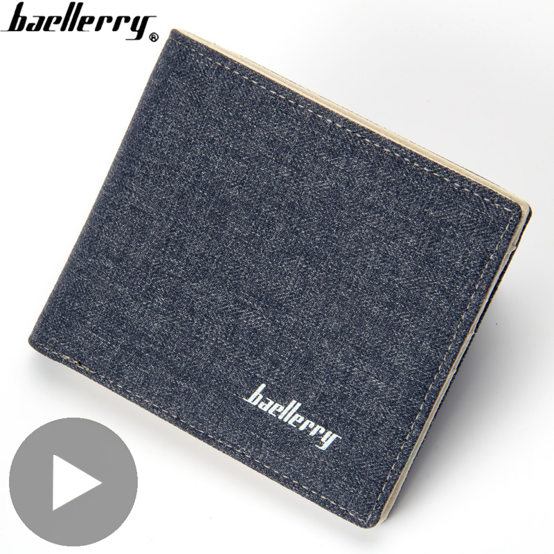 Canvas Short Money Bag For Men Wallet Male Purse Card Coin Holder Small Vallet Partmone Walet Portofele Penazenka Cough Gamanese
