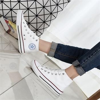 Wysokie buty płócienne męskie trampki klasyczne buty płócienne mieszkania damskie wulkanizowane klasyczne trampki 2020 jesienne modne buty nowe tanie i dobre opinie SDF JQMNN Unisex RUBBER Lace-up Pasuje mniejszy niż zwykle proszę sprawdzić ten sklep jest dobór informacji Spring2019