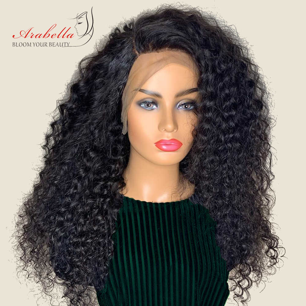 Бразильский глубокий волнистый 360 парик фронта шнурка натуральный цвет Arabella remy волосы шнурка фронта человеческих волос парики 180% Плотность предварительно сорвал