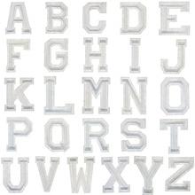 1 шт. Английский алфавит чистый белый 26 Смешанная вышивка на одежду ручная работа декоративная одежда аппликация деликатная вышивка буквы наклейки