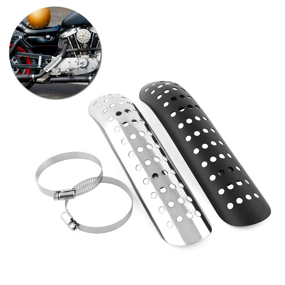Universal Aluminum Motorcycle Exhaust Muffler Pipe Protector Heat Shield Cover For All Dirt Bike Off Road Racing