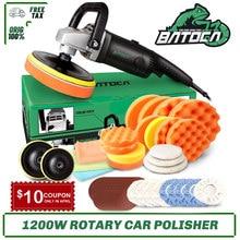 Batoca 1200w carro rotativo polisher 7 Polegada ro carro elétrico máquina de polimento polimento ferramentas buffer waxer lixadeira velocidade ajustável