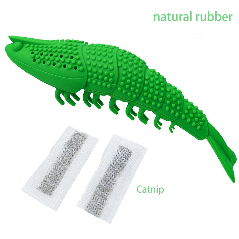 Cat Chew Toy Silicone Fish Shape Catnip Toy For Cat Kitten Cat Mint Cleaning Toothbrush Funny Cat Toy Pet Supplies image