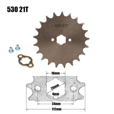 roda dentada do motor dianteiro estrela 530 21 t dentes 20mm para 530 corrente com