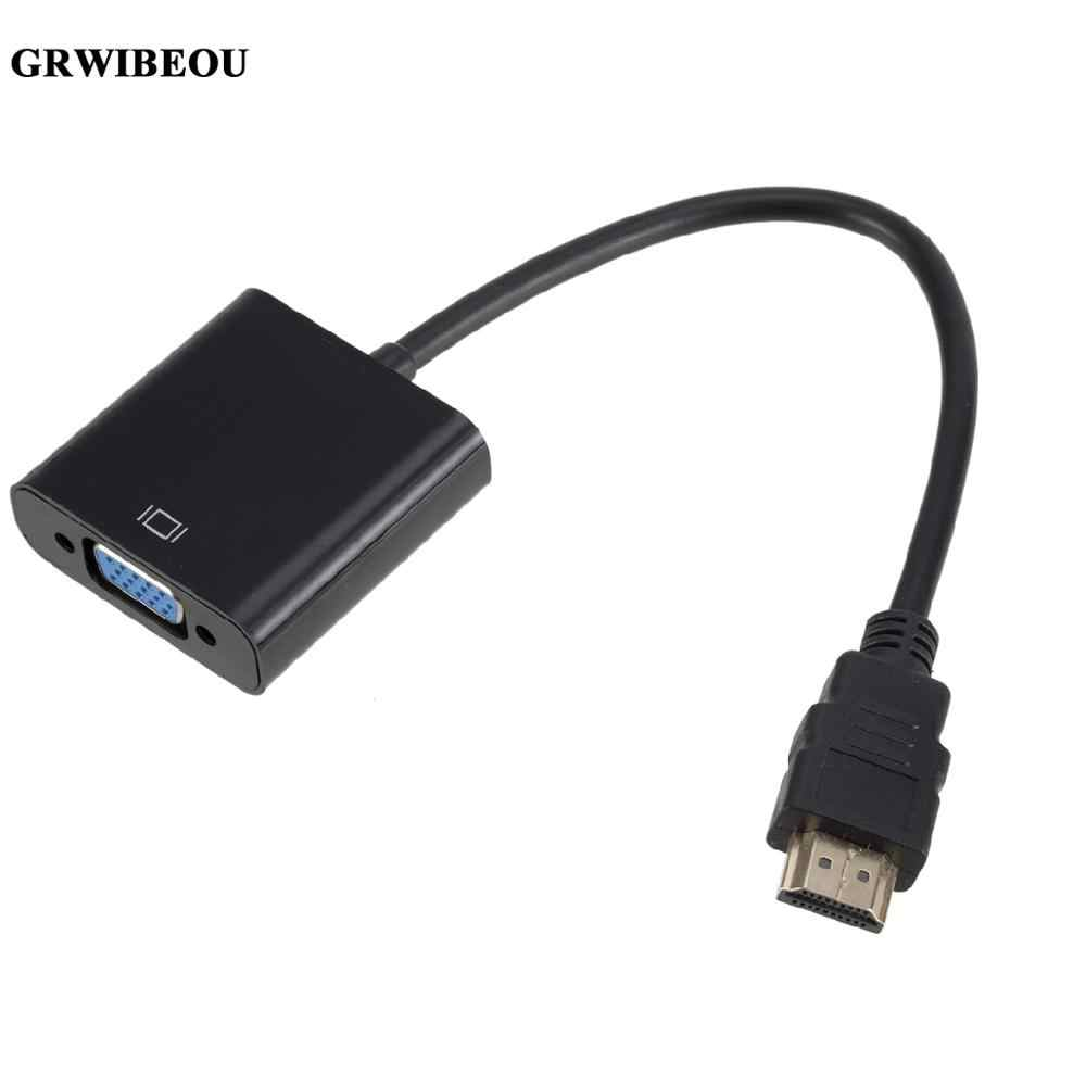 Kabel HDMI do VGA konwerter HDMI męski do VGA Adapter konwertera cyfrowego analogowy HD 1080P do komputera Tablet do laptopa HDMI vers VGA