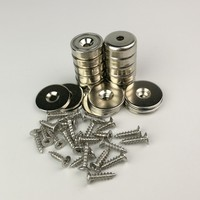 20pcs D20mm Steel cup rare earth magnet with strike plate Neodymium magnet latch kits for locking wood working furniture door