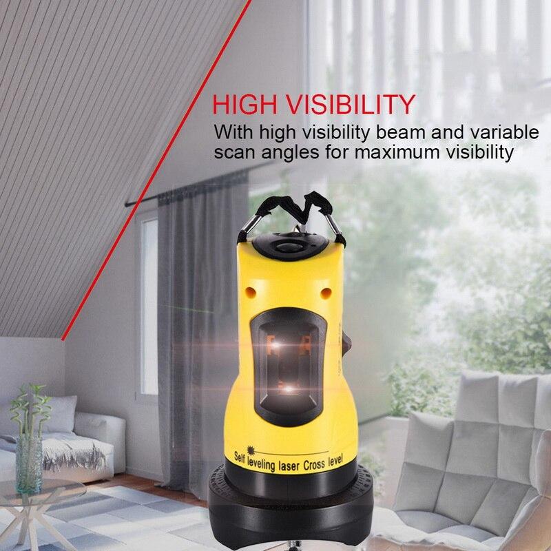 Самонивелирующийся инструмент лазерного уровня 360 градусов вращающийся 2 линии крест Горизонтальная Вертикальная высокая видимость лазер...