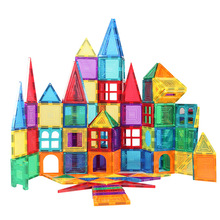 Building-Blocks Magnet Educational-Toys Color Children for Window Light-Transmitting