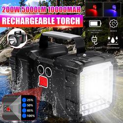 5000LM Super bright Powerful USB LED flashlight Searching torches night light lamp hand Camping lantern rechargeable battery