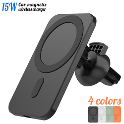 Newest Magnetic Wireless Car Charger Mount for iPhone 12 Pro Max mini Magsafe Fast Charging Wireless Charger Car Phone Holder
