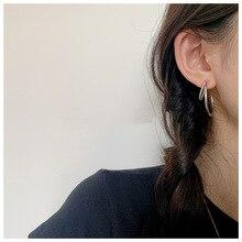 Circle Earring Twist-Exaggerated Ear-Jewelr Fashion Women Girl Big Silver Geometric