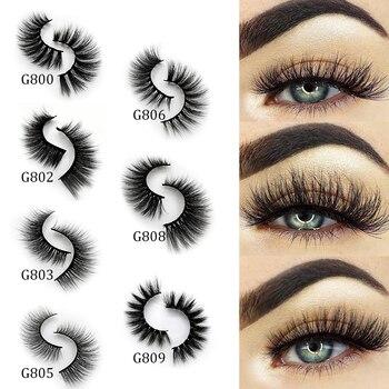 5 Pairs Multipack 3D Mink Lashes False Eyelashes Handmade Wispy Fluffy Long Lashes Natural Eye Makeup Tools Eye Lashes G806 4