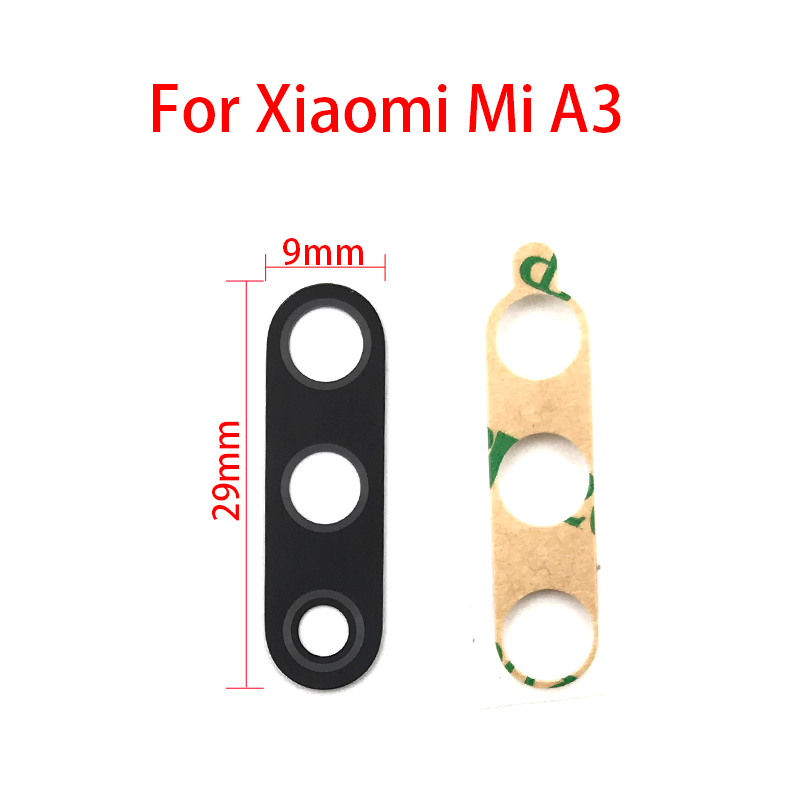 2Pcs/Lot,Rear Back Camera Glass Lens Cover For Xiaomi Mi A3 With Sticker Adhesive Replacement Parts