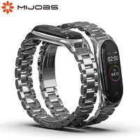 Correa de Metal para Xiaomi mi Band 4 3 pulsera mi Band 4 correas de acero inoxidable pulseras para Pulseira mi band 3 Smart Watch Correa