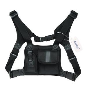 Image 5 - ABBREE walkie talkie нагрудный Карманный Рюкзак для телефона с радио держателем сумка для GP340 CP04 BF UV 5R 888S двухсторонний радиоприемник чехол для переноски