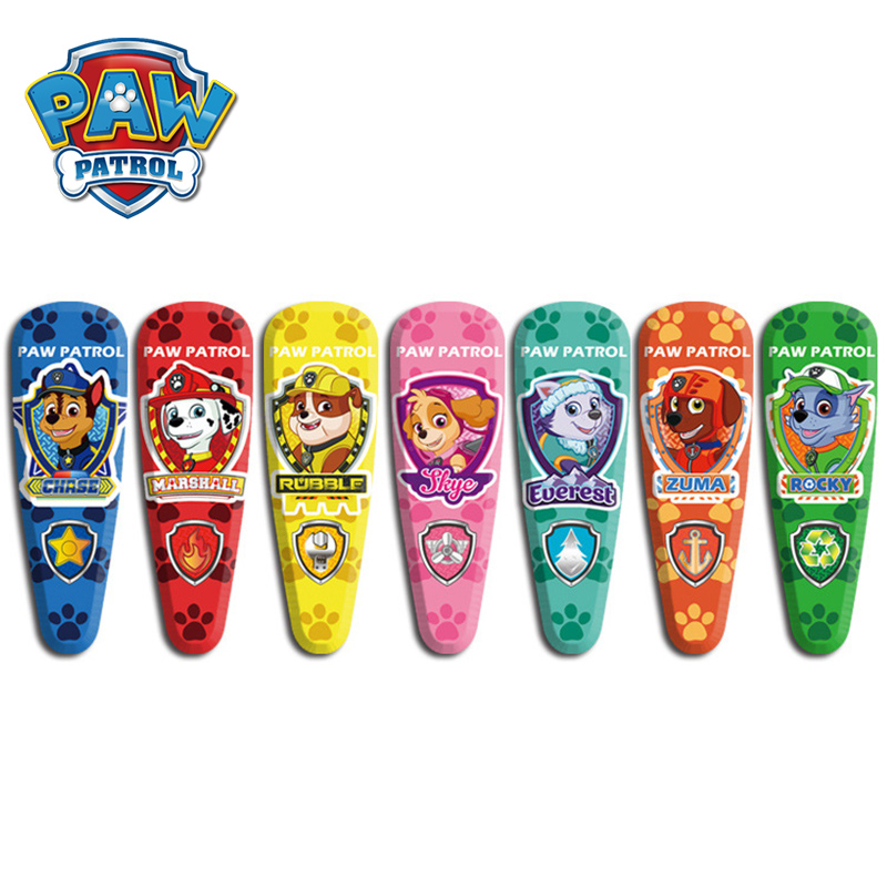 7pcs/set Paw Patrol Children's Cute UV Fashion Hair Pin Snap Pins Cartoon Barrettes Handmade Hair Accessories 2A24