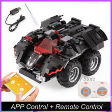2,4G RC controlada por App batimóvil bloque DC Super Héroes Bat-carro 13020 de 07111 de Batman de 76112 técnica(China)