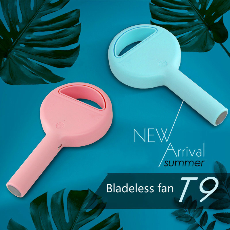 Mini Hold Mirror USB Fans Mini Green Grass Electric Fan Makeup Mirror Portable Palm Originality Small Fans