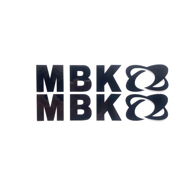 2 개/대 오토바이 수리 스티커 MBK 오토바이에 대 한 개인 된 오토바이 MBK 로고 장식 반사 데칼