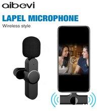 Aibevi-Micrófono de solapa inalámbrico, conveniente micrófono Lavalier, reducción de ruido, para entrevista en vivo, grabación de teléfono móvil para iOS tipo C