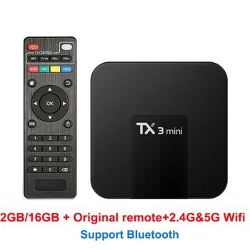 Android 8.1 TX3 mini S905W CPU HDMI 2.0 Smart TV Box 4K H.265 Youtube parpadeo reproductor de medios set top tv box