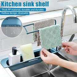 Telescopic Sink Shelf Kitchen Soap Sponge Sink Drain Rack  Sinks Holder Organizer Storage Basket Kitchen Gadgets Accessories