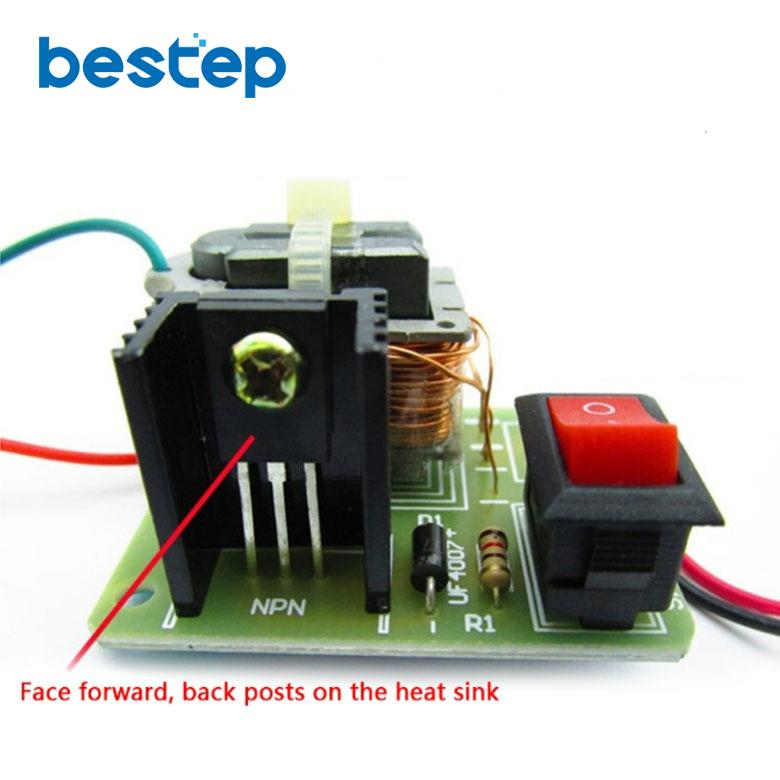 15KV Hohe Frequenz DC Hohe Spannung Arc Zündung Generator Inverter Boost Schritt Bis 18650 DIY Kit U Core Transformator Suite 3,7 V