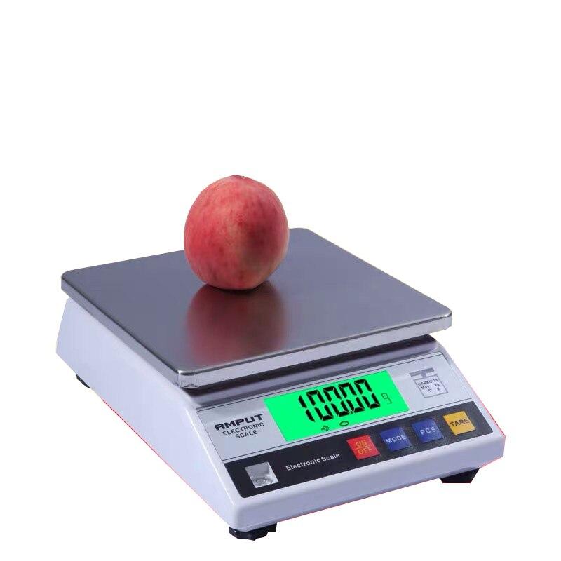Balance de Balance industrielle de Balance de laboratoire électronique de précision numérique de 10kg x 0.1g avec l'échelle supérieure de Table de comptage