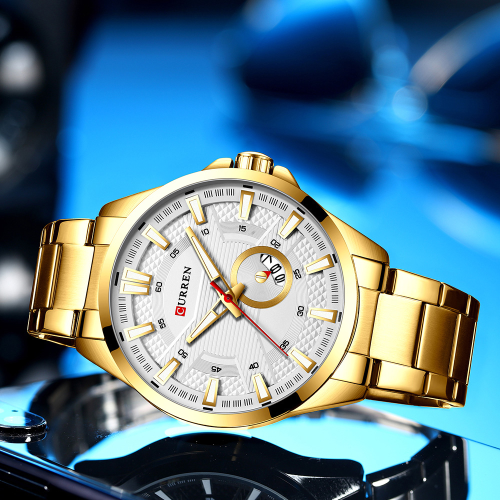 Hf0322d92ff8b4ac0ac850e49e0717b95g New Stainless Steel Quartz Men's Watches Fashion CURREN Wrist Watch Causal Business Watch Top Luxury Brand Men Watch Male Clock