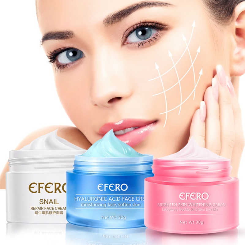 Hyaluronic Acid Whitening Face Cream Freckles Cream Anti Wrinkle Snail Cream Repair Moisturizer Skin Whitening Cream Face Care