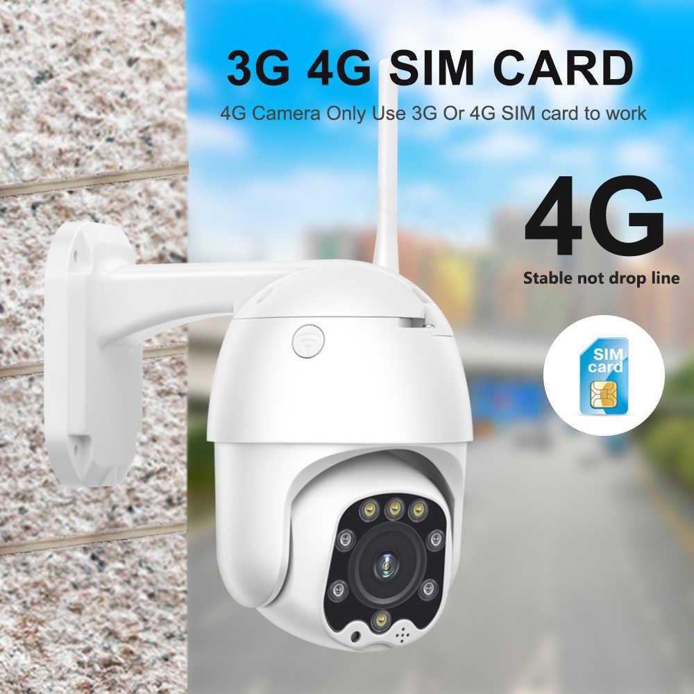 Wireless WIFI 4G 1080P CCTV Security Camera Intercom PTZ Survelliance Night View