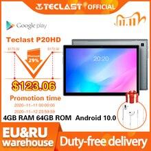 Teclast P20HD 10,1 дюймов Планшеты ОС Android 10,0 4G Телефонный звонок 4 Гб Оперативная память 64 Гб Встроенная память 1920 × 1200 GPS 6000 мА/ч, ЭЛЕКТ AI-Испытание на...