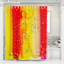 Sexy Naked Women Shower Curtains 3D Colorful Bathroom Curtain Ombre Gradient Waterproof Bath Custom duschvorhang 8 Size