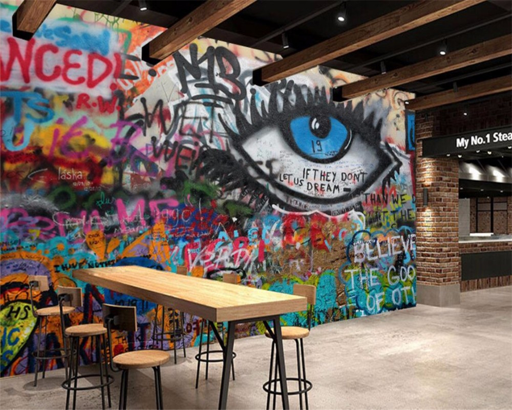 Wellyu Custom Wallpaper KTV Bar Cafe Office Graffiti Wallpaper Seamless Wallpaper Home Decoration Background Photo Wallpaper 3d
