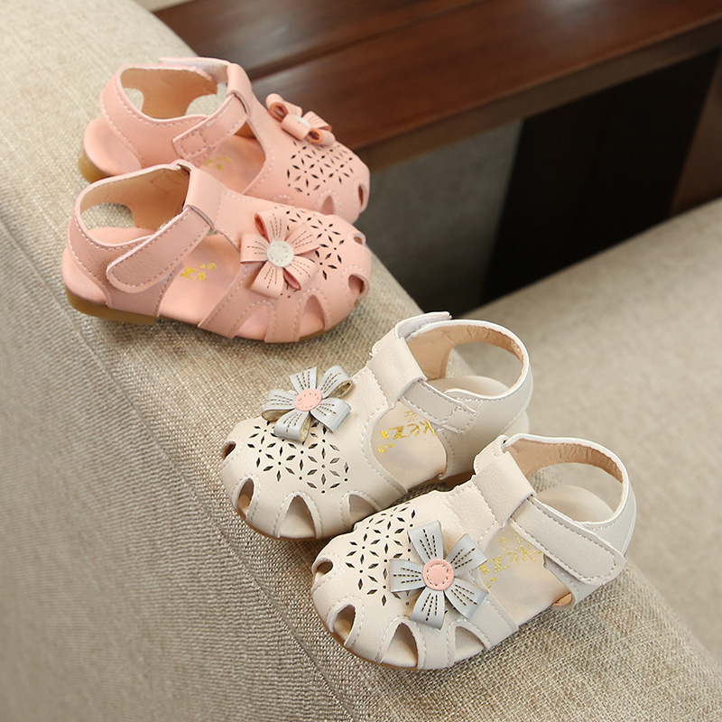 Summer Children Shoes for Girls Cute Flower Baby Sandals Kids Shoes Girls Sandals Toddler Baby Shoes Pink Beige Girl Sandals in Sneakers from Mother Kids