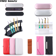 Collection Tweezers holder storage box Eyelash extension tool Eyelashes tweezer Case Cosmetic Tool Storage Box For tweezer kit cheap HMQ beauty as the picture shows 1 pc Acrylic Stainless Steel tweezers storage 100 high quality This is box only