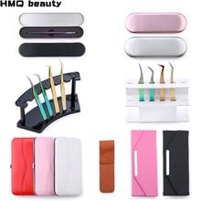 Collection Tweezers holder storage box Eyelash extension tool Eyelashes tweezer Case Cosmetic Tool Storage Box For kit