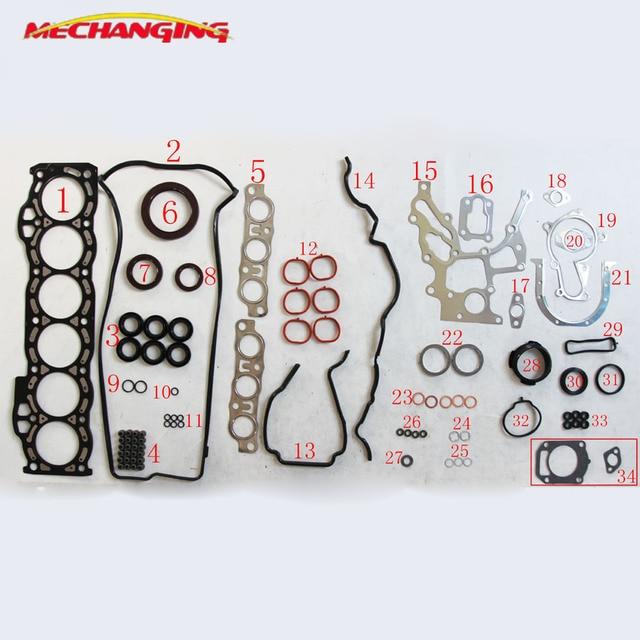1GFE kit de reconstruction de moteur de 24V, accessoire complet de moteur, pièces automobiles, joint de moteur 04111 70110, 04111, 70151, 50209200