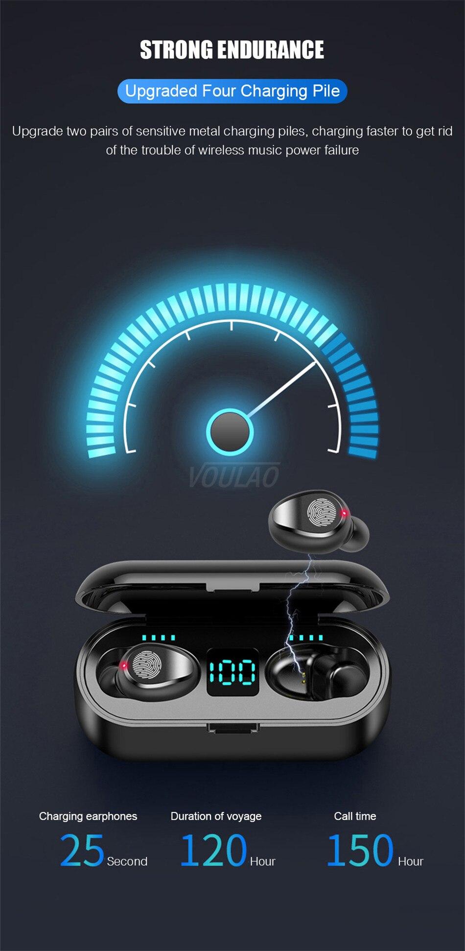 Écouteur sans fil Bluetooth V5.0 F9 TWS casque sans fil Bluetooth