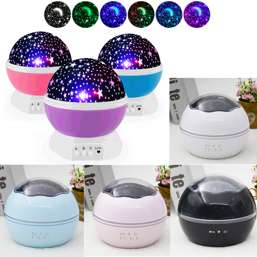 New LED Starlight  Dream  Rotate  Romantic  Starlight  Projection Lamp  USB  Battery  Babysbreath  Gifts Decorative Night Light