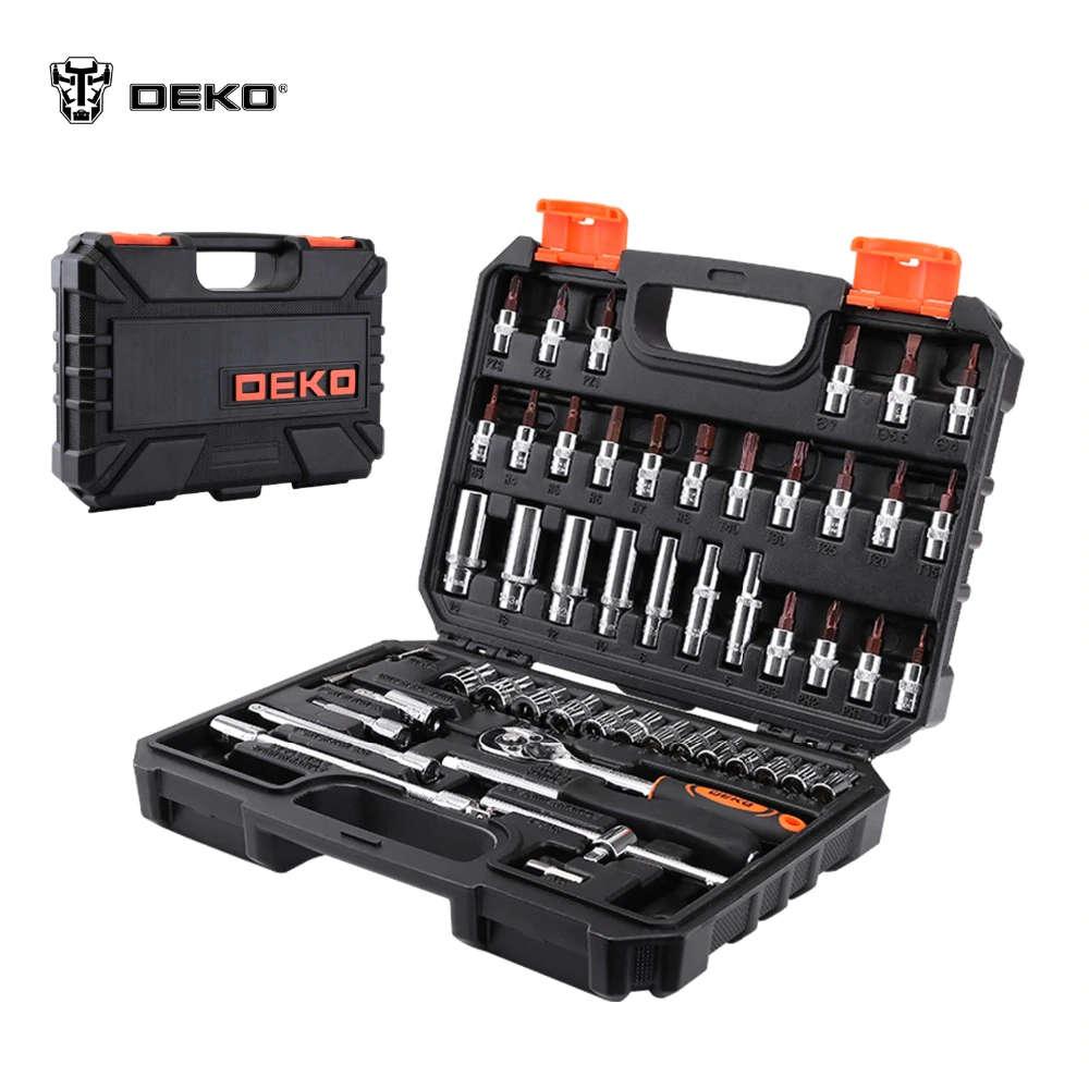 Juego de Herramientas DEKO TZ53 (53 Uds.) caja de herramientas 1/4 juego de cabeza de llave inglesa profesional