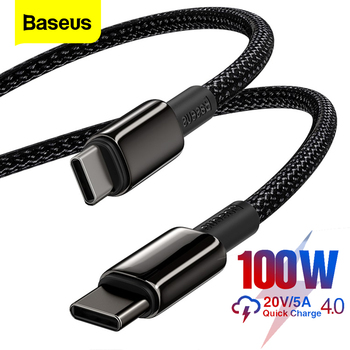 magnetic usb type c pd cable double usbc male to male 5a 100w super fast charge for macbook ipad pro huawei type c to usb c cord Baseus 100W USB C To USB Type C Cable USB-C Fast Charge Data Wire USBC Type-C PD Cable For MacBook iPad Xiaomi Mi 10 Pro Samsung