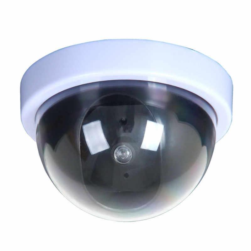 พลาสติกในร่ม/กลางแจ้งDummyกล้องวงจรปิดกล้องวงจรปิดความปลอดภัยกล้องกระพริบไฟLEDสีแดง