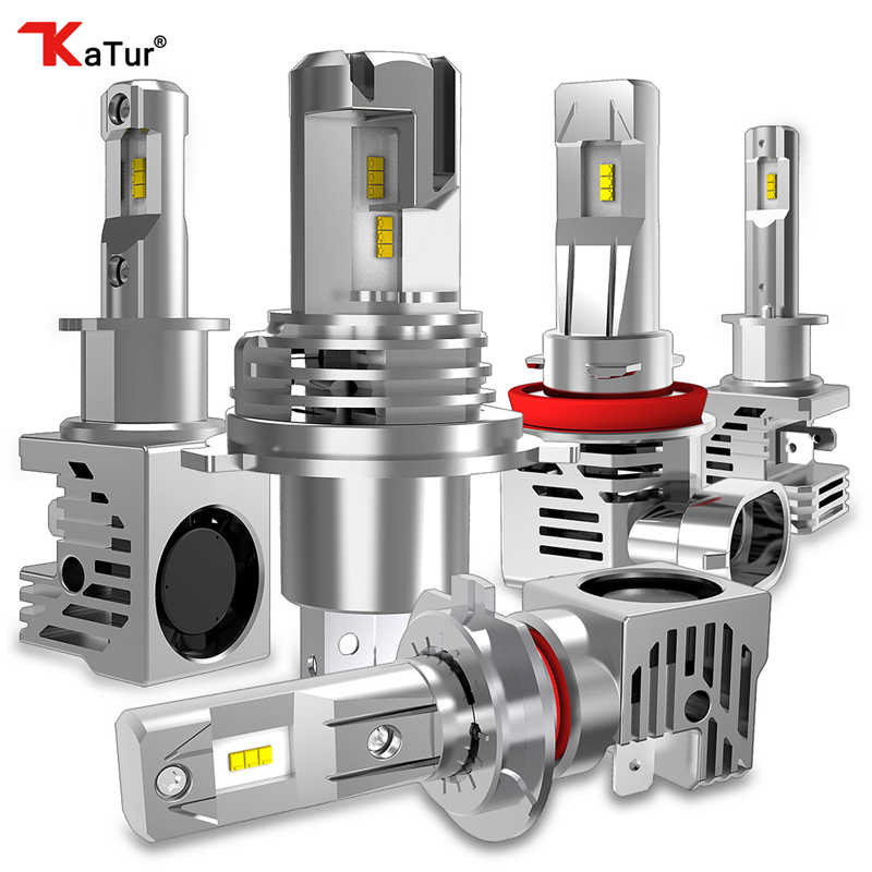 Katur 1:1 DESIGN Mini LED Car Headlight 6000K White Auto LED Lamps H11 H4 H7 9005 9006 HB3 HB4 H1 H3 Super Bright Newest Design