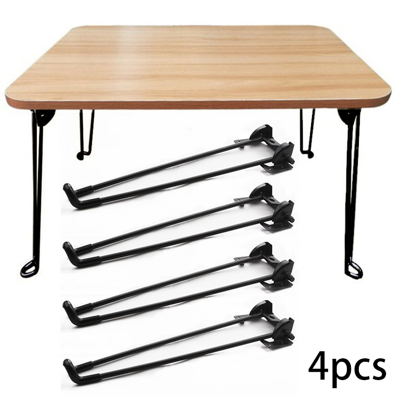 4pcs Folding Table Legs Hardware Accessory Woodworking Chair Bed Computer Desk Supporter Stand Furniture Legs