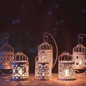 Hollow Holder świecznik Tealight wisząca latarenka klatka dla ptaków Vintage kute nowość
